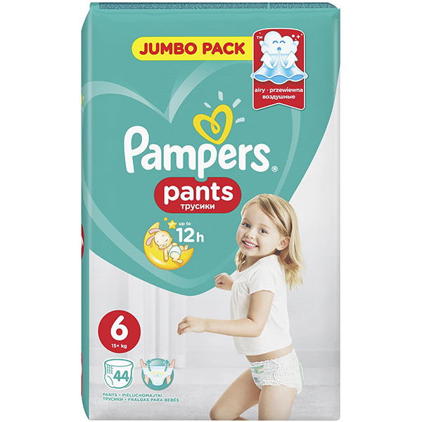 Scutece chilotei PAMPERS Pants Jumbo Pack 6, Unisex, 15 + kg, 44 buc