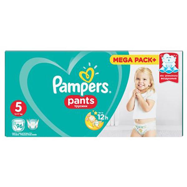Scutece chilotei PAMPERS Pants Mega Box 5, Unisex, 12 - 18 kg, 96 buc