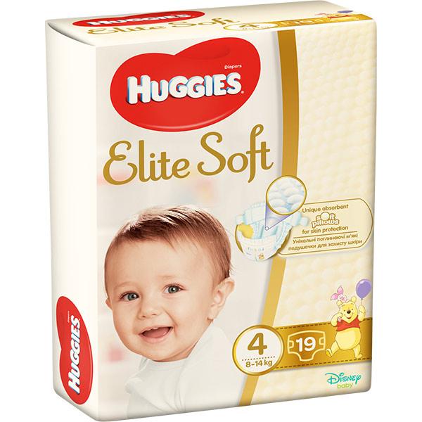 Scutece HUGGIES Elite Soft 4, Unisex, 8 - 14 kg, 19 buc