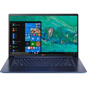 "Laptop ACER Aspire Swift 5 SF515-51T-57W7, Intel® Core™ i5-8265U pana la 3.9GHz, 15.6"" Full HD Touch, 8GB, SSD 256GB, Intel® UHD Graphics 620, Windows 10 Home, Charcoal Blue"