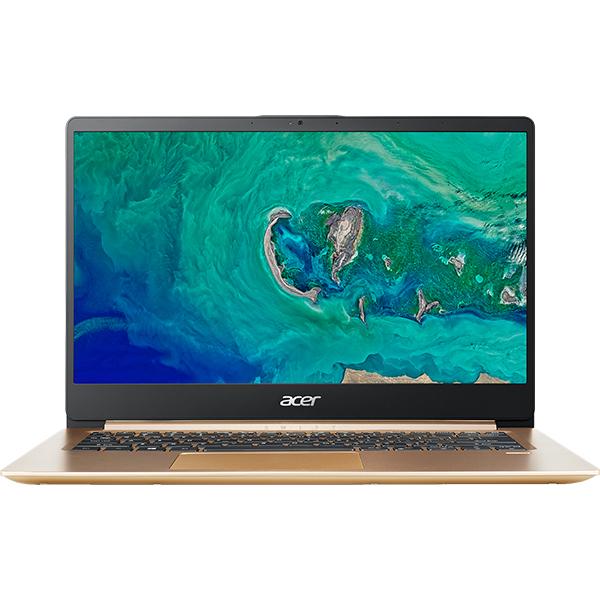 "Laptop ACER Swift 1 SF114-32-P8RX, Intel® Pentium® Silver N5000 pana la 2.7GHz, 14"" Full HD, 4GB, SSD 256GB, Intel® UHD Graphics 605, Linux, Gold"