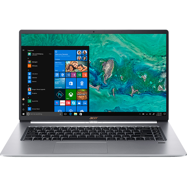 "Laptop ACER Aspire Swift 5 SF515-51T-59MN, Intel® Core™ i5-8265U pana la 3.9GHz, 15.6"" Full HD Touch, 8GB, SSD 512GB, Intel® UHD Graphics 620, Windows 10 Home, Silver"
