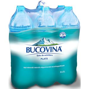 Apa minerala naturala plata BUCOVINA 2L, bax, 6 Sticle