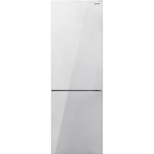Combina frigorifica SHARP SJ-BA31IEWG2-EU, Advanced NoFrost, 324 l, H 186 cm, Clasa A++, sticla, alb