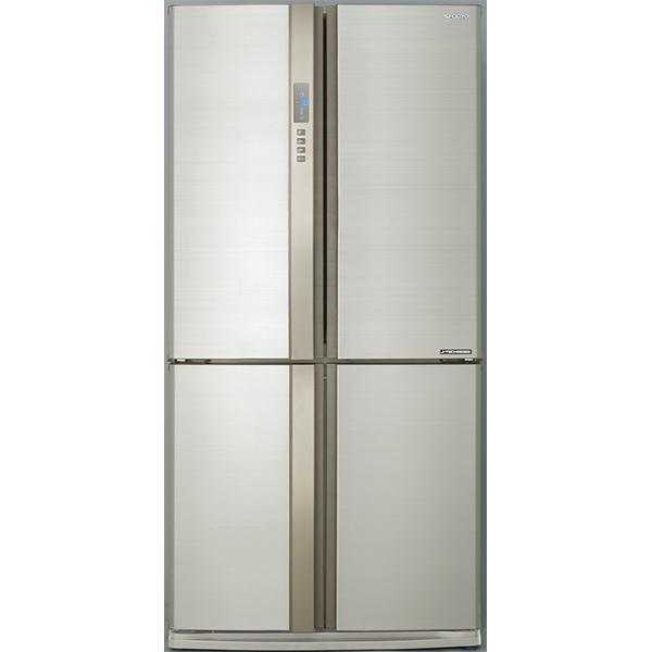 Side-by-Side SHARP EX820FBE, Hybrid Cooling, 605 l, H 183 cm, Clasa A++, bej