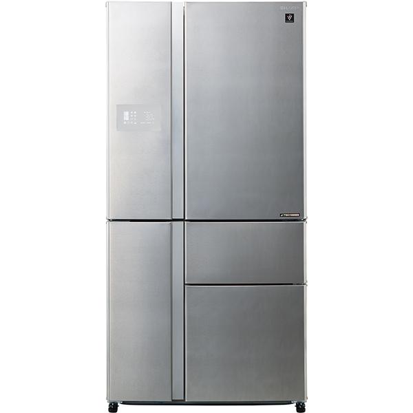 Side-by-Side SHARP SJ-PX830FSL, Hybrid Cooling, 665 l, H 185 cm, Clasa A++, argintiu