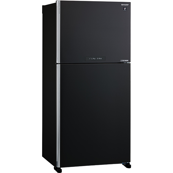 Frigider cu doua usi SHARP SJ-XG640MBK, Hybrid Cooling, 516 l, H 177 cm, Clasa A++,  negru
