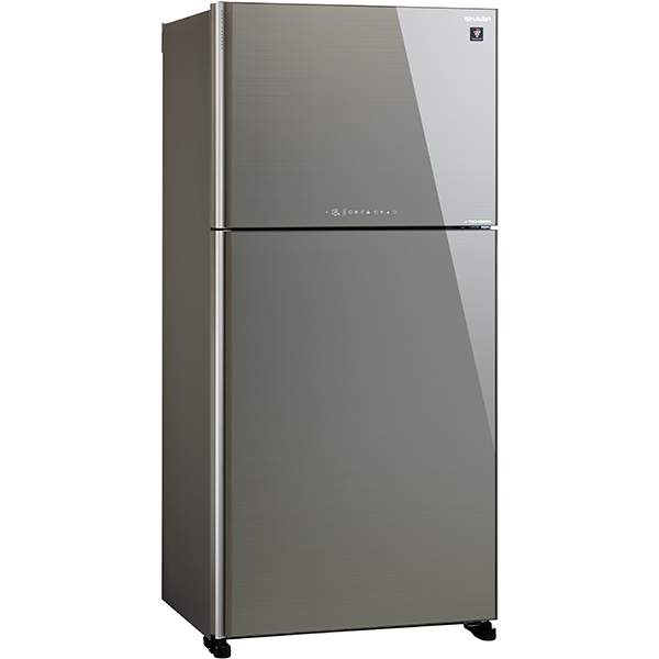 Frigider cu doua usi SHARP SJ-XG740GSL, Hybrid Cooling, 600 l, H 187 cm, Clasa A++, argintiu