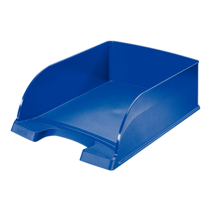 Tavita documente LEITZ Plus Jumbo, plastic, albastru