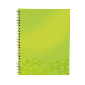 Caiet de birou LEITZ, dictando, A4, 80 file, legatura spirala, verde
