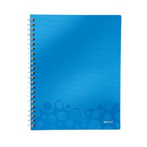 Caiet de birou LEITZ, matematica, A4, 80 file, legatura spirala, albastru