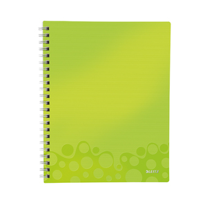 Caiet de birou LEITZ, matematica, A4, 80 file, legatura spirala, verde