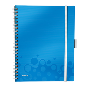 Caiet de birou LEITZ, dictando, A4, 80 file, legatura spirala, albastru