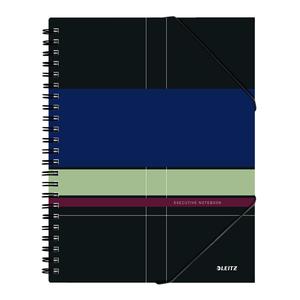 Caiet de birou LEITZ, dictando, A4, 80 file, legatura spirala, negru