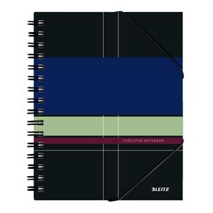 Caiet de birou LEITZ, dictando, A5, 80 file, legatura spirala, negru