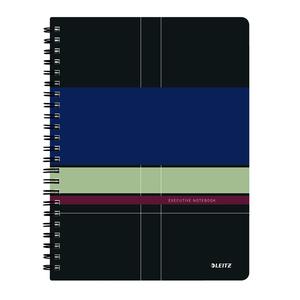 Caiet de birou LEITZ, matematica, A4, 80 file, legatura spirala, negru-violet