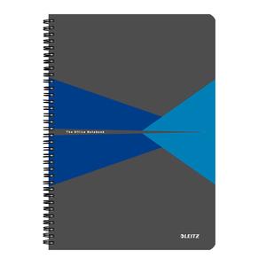 Caiet de birou LEITZ, matematica, A4, 90 file, legatura spirala, albastru
