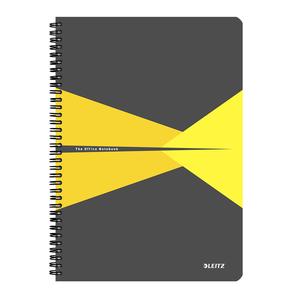 Caiet de birou LEITZ, dictando, A4, 90 file, legatura spirala, galben