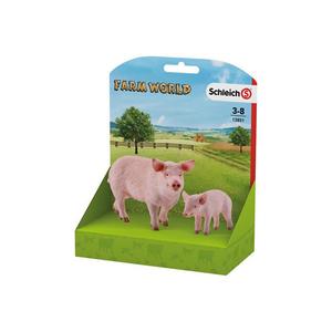 Set figurine SCHLEICH Porc si pucelus SL13851L, 3 ani+, roz