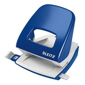 Perforator metalic LEITZ 5008, 30 coli, 2 perforatii, albastru