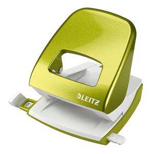 Perforator metalic LEITZ 5008, 30 coli, 2 perforatii, verde