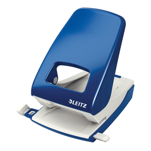 Perforator metalic LEITZ 5138, 40 coli, 2 perforatii, albastru