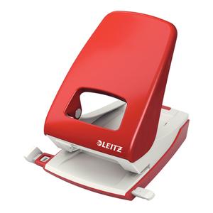 Perforator metalic LEITZ 5138, 40 coli, 2 perforatii, rosu