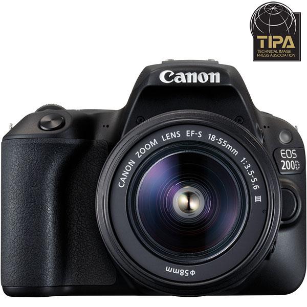 Camera foto DSLR CANON EOS 200D , 24.2MP, Wi-Fi, negru + Obiectiv EFS 18-55 DC