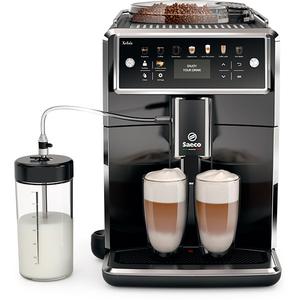 Espressor super automat Saeco Xelsis SM7580/00, 1.7l, HygieStea, 12 setari de macinare, negru lucios