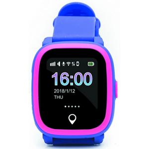 Smartwatch pentru copii E-BODA, GPS Tracker, Android/iOS, silicon, Mov