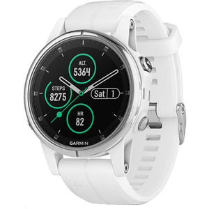 Smartwatch GARMIN Fenix 5S Plus Android/iOS, silicon, Silver/White