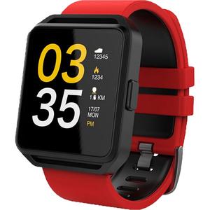Smartwatch MAXCOM FitGo FW15 Square, Android/iOS, silicon, Rosu