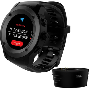Smartwatch MAXCOM FitGo FW17 Power, Android/iOS, silicon, Negru