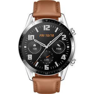 Smartwatch HUAWEI Watch GT 2, Android/iOS, piele, maro