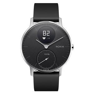 Smartwatch NOKIA Steel HR 36mm, Android/iOS, silicon, negru