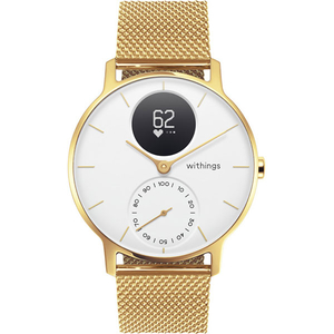 Smartwatch WITHINGS Steel HR 36mm Limited Edition, Android/iOS, silicon, Champagne Gold/White