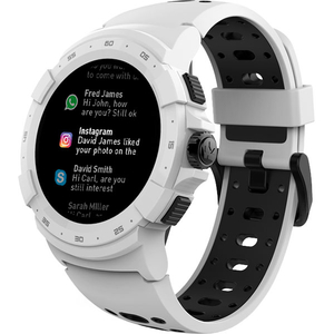 Smartwatch MYKRONOZ ZeSport2, Android/iOS, silicon, alb/negru