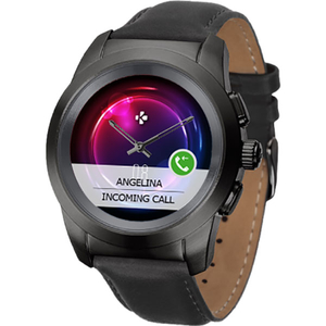 Smartwatch MYKRONOZ ZeTime Premium, Regular 44 mm, Android/iOS, piele naturala, negru