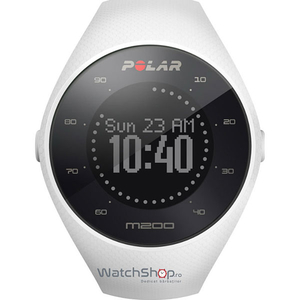Smartwatch POLAR M200 Android/iOS, silicon, Medium/Large, White