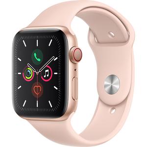 APPLE Watch Series 5 GPS + Cellular, 44mm Gold Aluminium Case, Pink Sand Sport Band