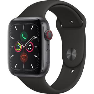 APPLE Watch Series 5 GPS + Cellular, 44mm Space Grey Aluminium Case, Black Sport Band
