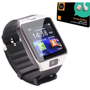 Smartwatch E-BODA Smart Time 200 + cadou cartela Orange, Android/iOS, silicon, argintiu
