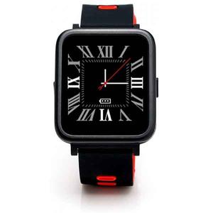 Smartwatch E-BODA Smart Time 350, Android/iOS, silicon, rosu