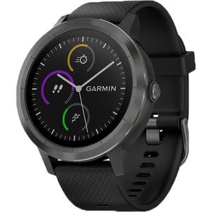 Smartwatch GARMIN Vivoactive 3 Slate, iOS&Android, silicon, black