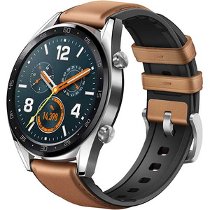 Smartwatch HUAWEI Watch GT, Android/iOS, silicon/piele, argintiu