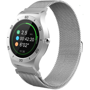 Smartwatch EVOLIO X-Watch 4 Android, bratara metalica, argintiu