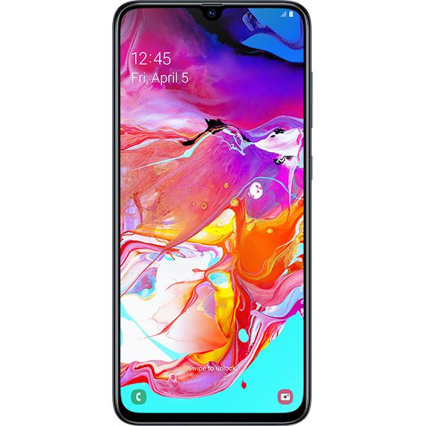 Telefon SAMSUNG Galaxy A70, 128GB, 6GB RAM, Dual SIM, Black