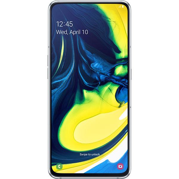 Telefon SAMSUNG Galaxy A80, 128GB, 8GB RAM, Dual SIM, Ghost White