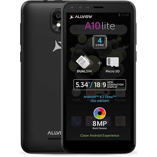 Telefon ALLVIEW A10 Lite 2019, 16GB, 2GB RAM, Dual SIM, Black