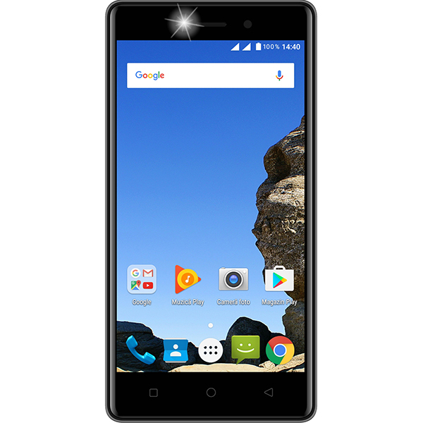 Telefon MYRIA Wide 4G, 8GB, 1GB RAM, Dual SIM, Black